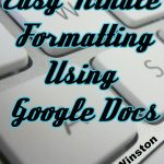 kindle formatting google docs