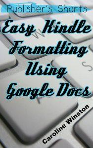 kindle formatting google docs