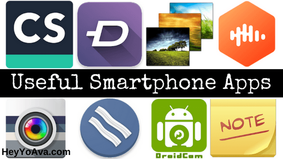 Useful Smartphone Apps for Fun and Productivity - HeyYoAva com