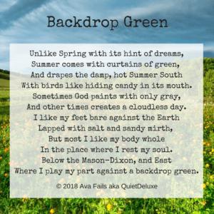 backdrop green by ava fails