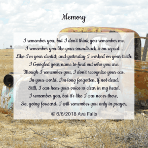 memory by ava fails