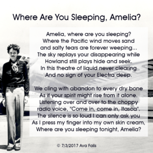 where are you sleeping amelia by ava fails