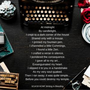 writing is bleeding by ava fails
