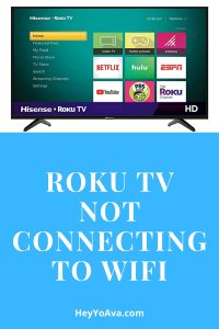roku tv not connecting to wifi