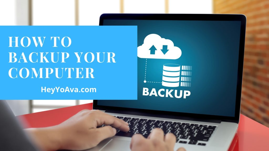 how to back up your computer